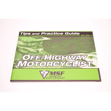Kawasaki 99929-1463 Tips & Practice Guide For The Off Highway Motorcyclist QTY (Off Highway Protection)