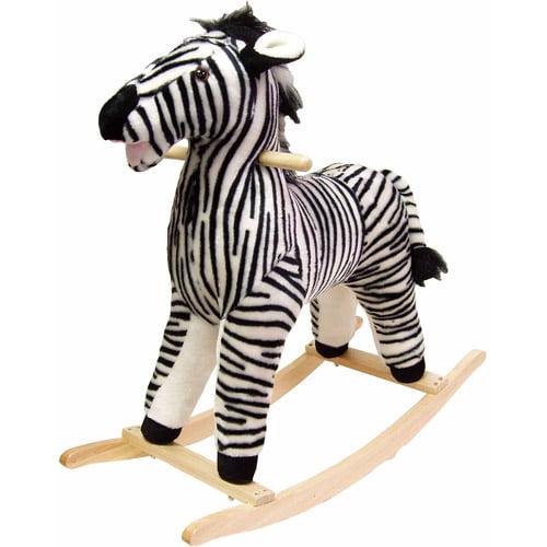 TRADEMARK GAMES INC Happy Trails Plush Rocking Animal, Zebra