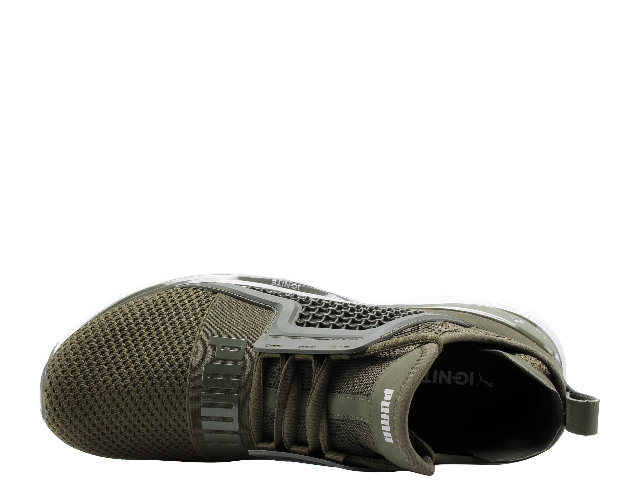 c18bac04d642 Puma - Puma IGNITE Limitless Weave Forest Night Olive Men s Running Shoes  19050301 - Walmart.com