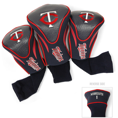 Team Golf MLB Minnesota Twins 3 Pack Contour Head Covers