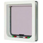 Large Cat Door White, White large cat flap w/liner By Cat Mate