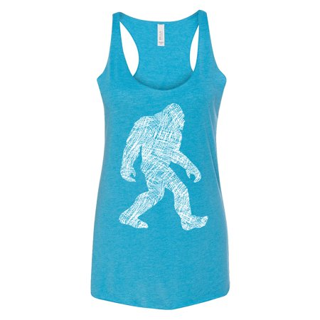 - Women's Sketch Bigfoot C6 Aqua Triblend Racerback Tank Top X-Small