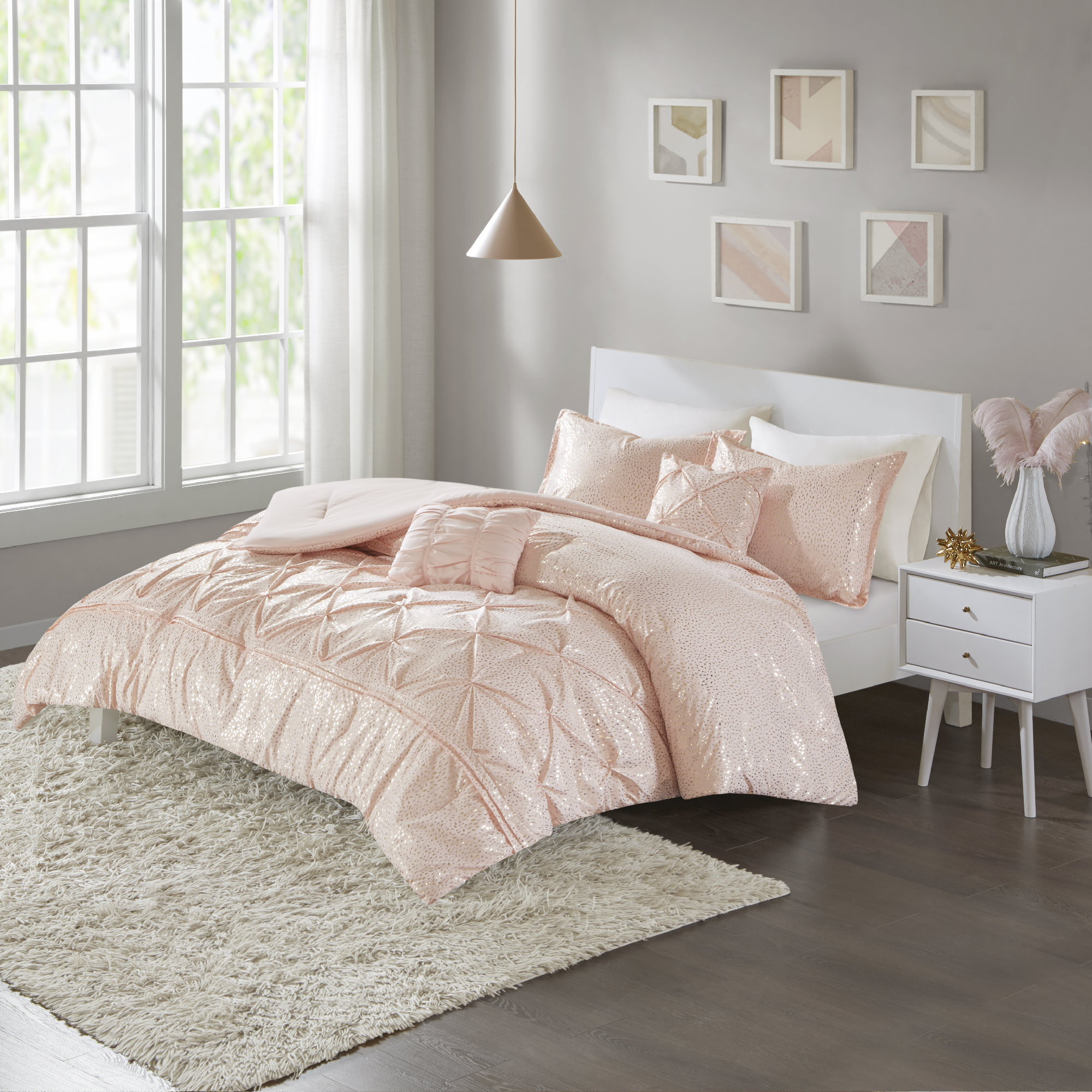 Home Essence Apartment Melody Metallic Comforter Set