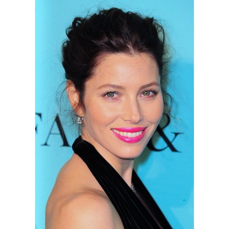 Jessica Biel At Arrivals For Tiffany   Co Celebrate The 2014 Blue Book Solomon R Guggenheim Museum New York Ny April 10 2014 Photo By Gregorio T Binuyaeverett Collection Photo Print