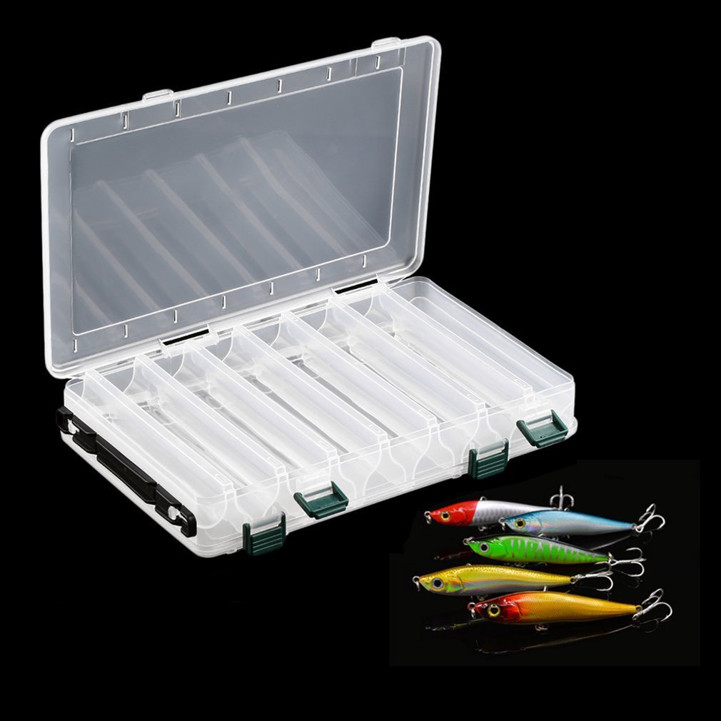 Adjustable Double Sided Fishing Lure Bait Case Hook Tackle Box Storage Container