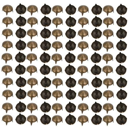 100pcs 9mm Pointed Design Paper Brad Bronze Tone for Scrapbooking DIY Craft - image 2 of 2