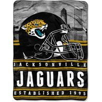"""NFL Jacksonville Jaguars """"Stacked"""" 60"""" x 80"""" Silk Touch Throw"""