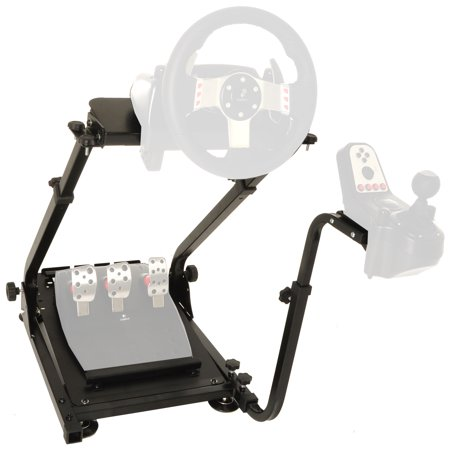 Conquer Racing Simulator Cockpit Driving Gaming Wheel Stand and Gear Shifter Mount ()