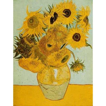 Sunflowers Poster Print by Vincent Van Gogh (11 x 14) 11 X 14 Van