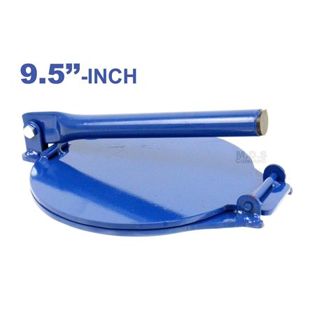 """Tortilla Press 9.5"""" Heavy Duty Commercial Gauge Steel Red and Blue Kitchen and Restaurant Tortilla Maker (Blue Tortilla Press) (Panini Press Blue)"""