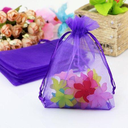 Cordon Organza Bijoux Bonbons pochette Emballage Sac cadeau noce 50 pcs - image 3 de 4