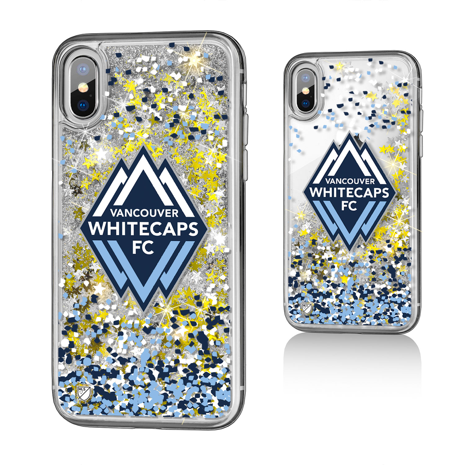 Vancouver Whitecaps SINCE 1974 Confetti Glitter Case for iPhone X