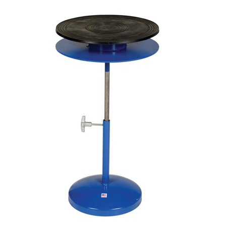 Vestil Manufacturing TT-18-DPED 24 to 35 in. 2 Tier Manual Turn Table, 18 in. Dia.