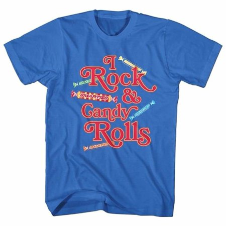 Rock And Roll Costumes Ideas (Smarties Brands I Rock Candy Rolls Adult Short Sleeve T)
