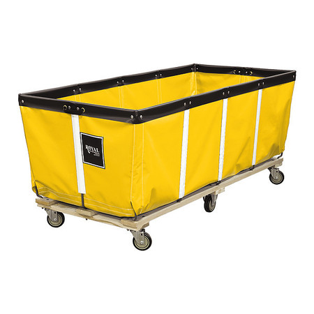 "Extractor Truck,60"",yellow Vinyl ROYAL BASKET TRUCK G60-YYW-EXE-4UNN"
