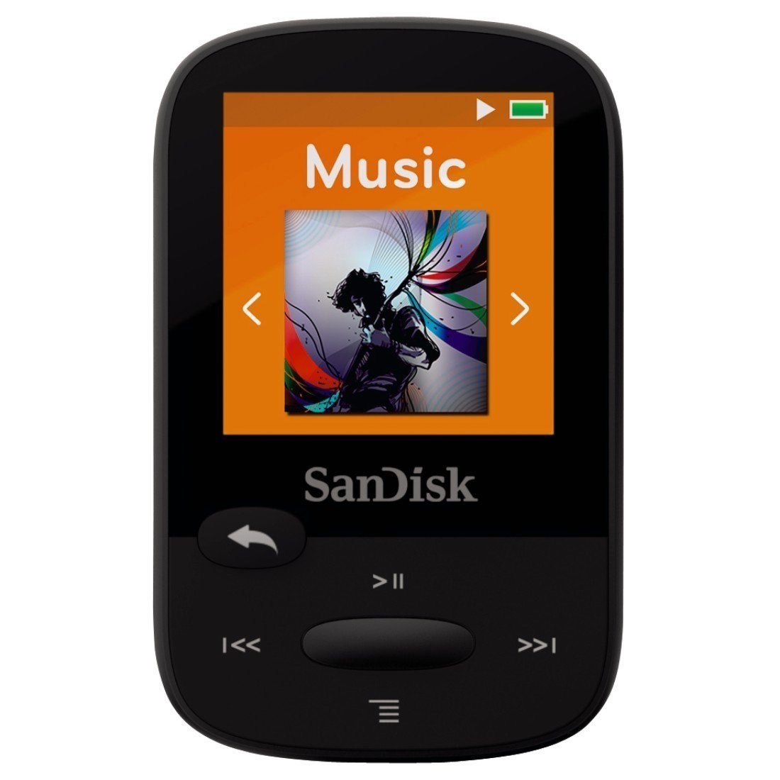 SanDisk Clip Sport 4GB MP3 Player, Black With LCD Screen and MicroSDHC Card Slot (Certified Refurbished)