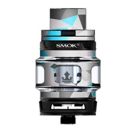 Skin Decal Vinyl Wrap for Smok TFV12 Prince Tank Vape Kit skins stickers cover/ Baby Blue Grey Glass (Prince Glasses)