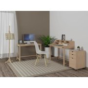 Scandinavian Lifestyle Milas Ash Secretary Desk Natural