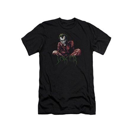 Asylum Straitjacket (Batman DC Comics Joker Arkham Asylum Straight Jacket Adult Slim T-Shirt)
