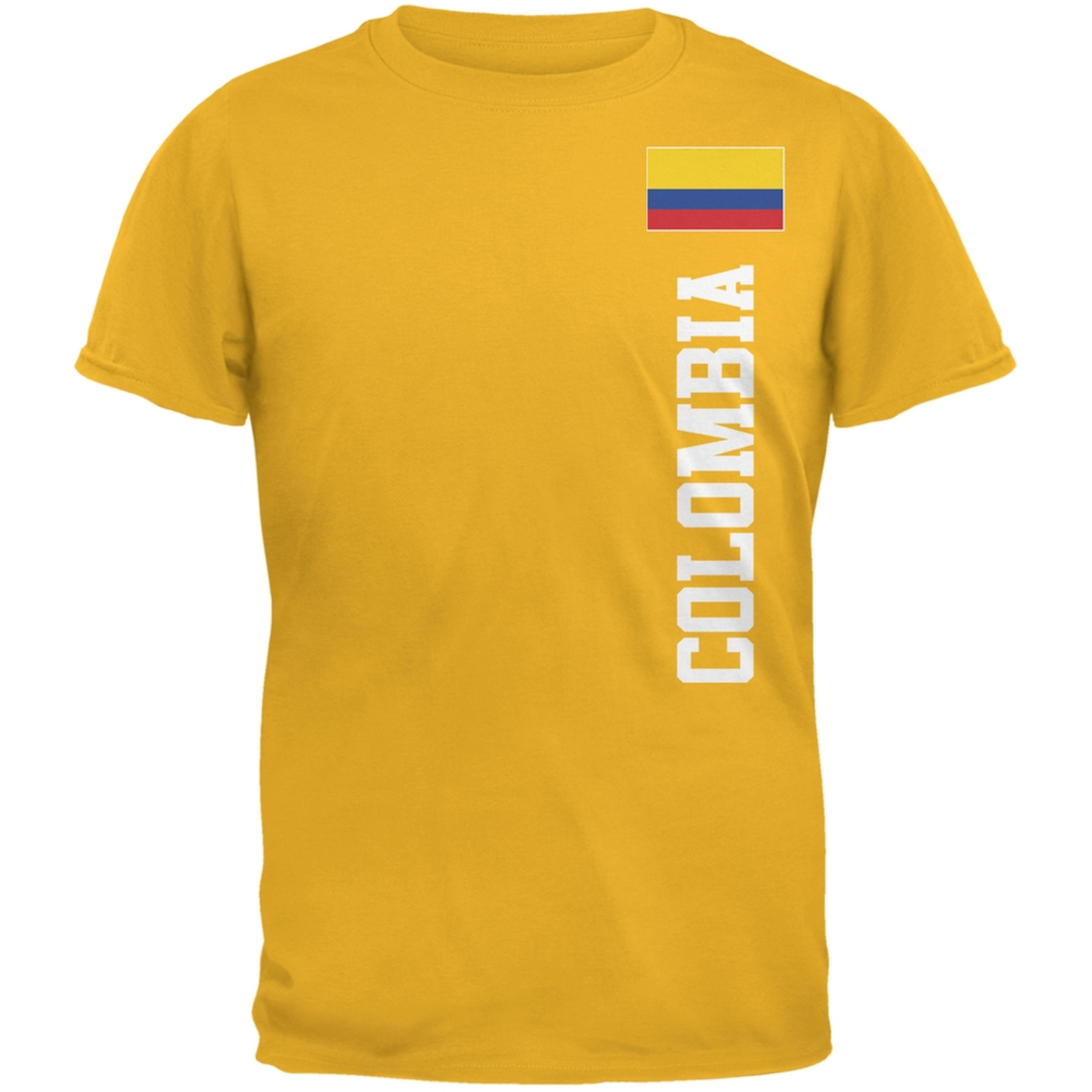 World Cup Colombia Yellow Adult T-Shirt