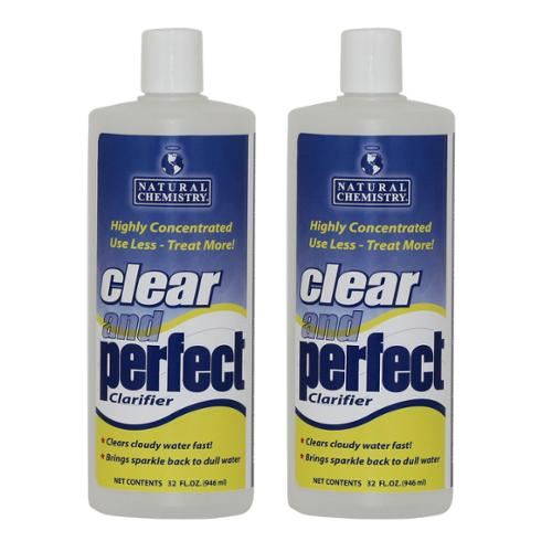2) Natural Chemistry 03500 Clear & Perfect Swimming Pool Clarifier - 32 oz Each