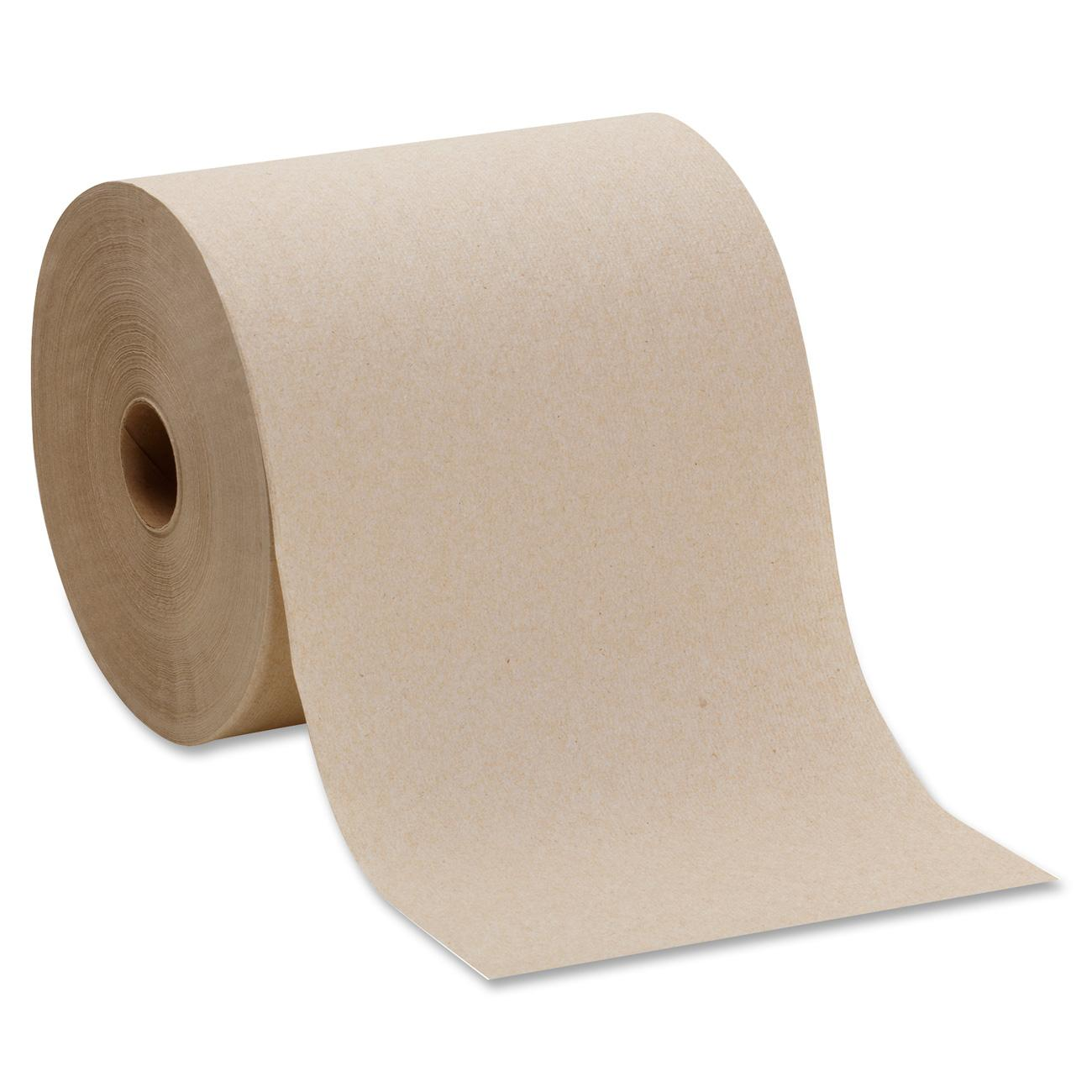 Pacific Blue Basic™ Recycled Hardwound Paper Towel Roll (Previously branded Envision®) by Georgia-Pacific GP PRO, Brown, 26301, 800 Feet Per Roll, 6 Rolls Per Case