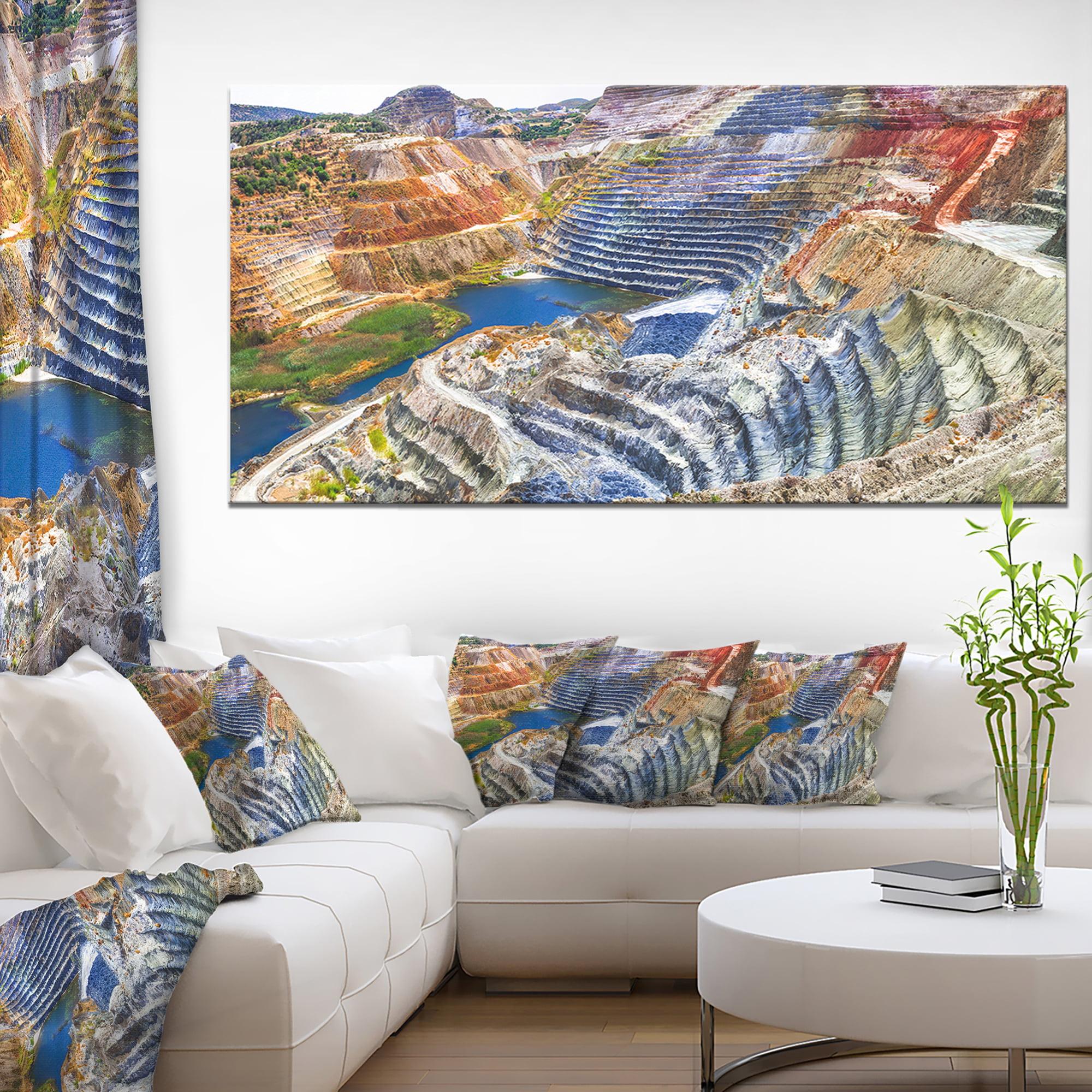 Impressive Mines and Canyon - Landscape Canvas Art Print - image 4 de 4