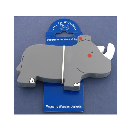 Magnetic Wooden Rhino Magnet by The Toy Workshop
