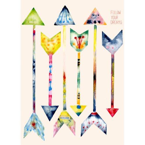 Oopsy Daisy 'Dream Arrows' by Shannon Newlin Graphic Art on Canvas