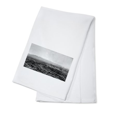 Tucson, Arizona - Panoramic View of City Photograph (100% Cotton Kitchen Towel) - Party City Towson