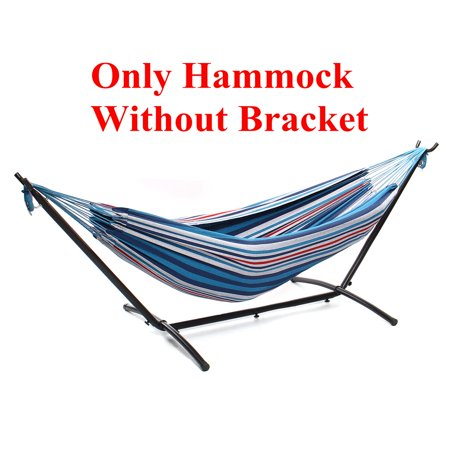 Camping Hammock W Bracket With Carrying Case 2 Person Double