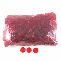 Red Plastic Counting Sorting Chips 19MM (3/4in) Pack of 1000 Koplow Games
