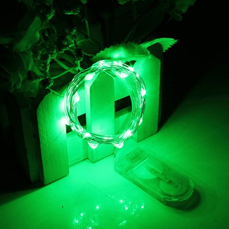 - Perfect Holiday 20 LED Copper String Fairy Light w/ battery - Green