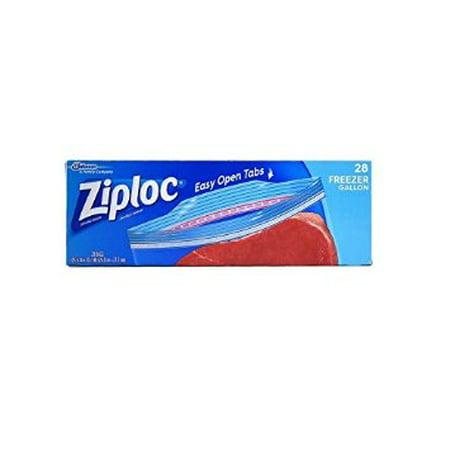 9 Packs Ziploc Freezer Bag Gallon Size 28 Ct