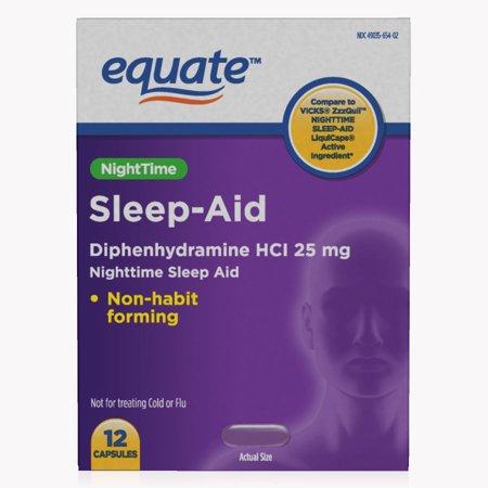 Equate Night time Sleep-Aid, 12 ct