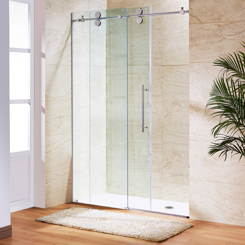Vigo Elan 56 Frameless Shower Door 38 Clear Glasschrome