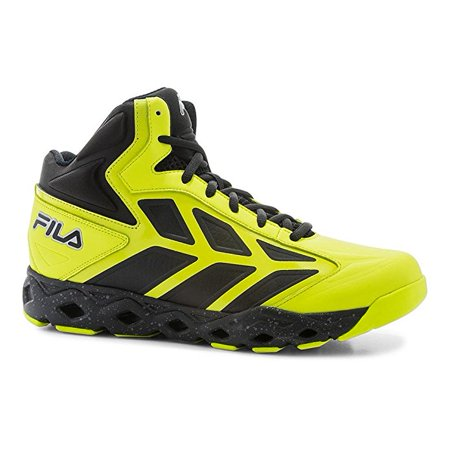 0fbfca58f99d Fila - Fila TORRANADO Mens High Top Athletic Basketball Sneakers Shoes Black  Yellow - Walmart.com