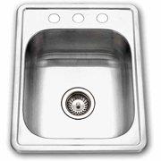 "Houzer Hospitality Topmount 17"" x 22"" Large Bar/Prep Stainless Steel Sink"