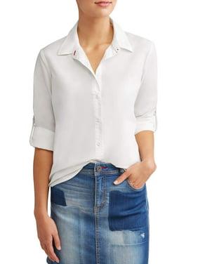 Product Image Poplin Casual Button Down Shirt Women s f9c16d4c3