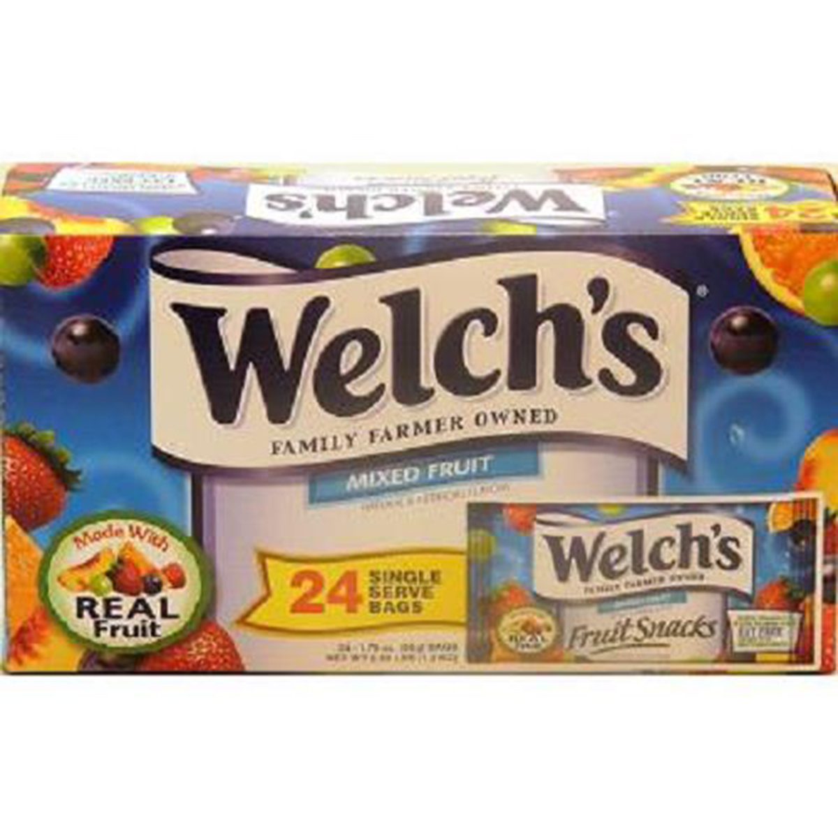 WELCHS FRUIT SNACK - MIXED FRUIT 1.75 oz Each ( 24 in a Pack )