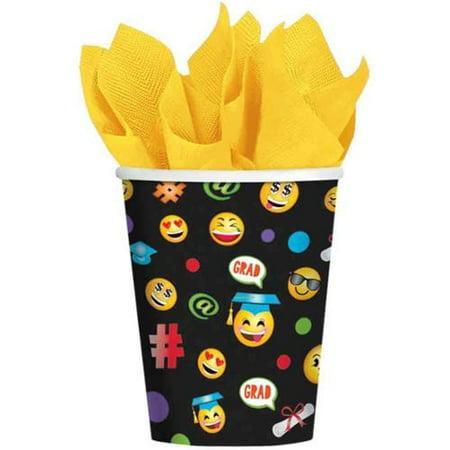 Graduation Cups (Emoji Grad 9oz Cups (50 Pack))