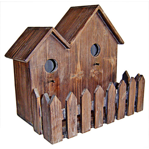 Cheungs Double 13 in x 9 in x 14 in Birdhouse