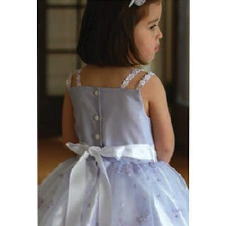 Angels Garment Light Purple Faux Shantung Flower Girl Dress (Light Garment)