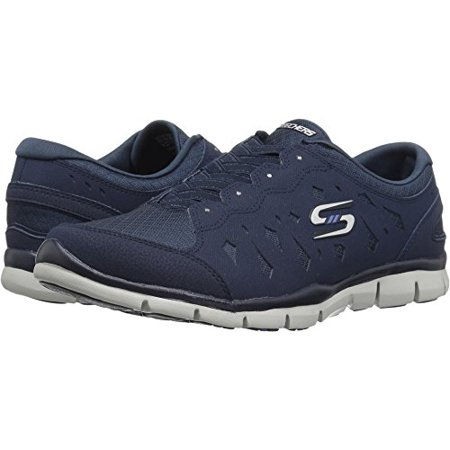 - Skechers Sport Women's Gratis Light Heart Fashion Sneaker, Navy, 8 M US