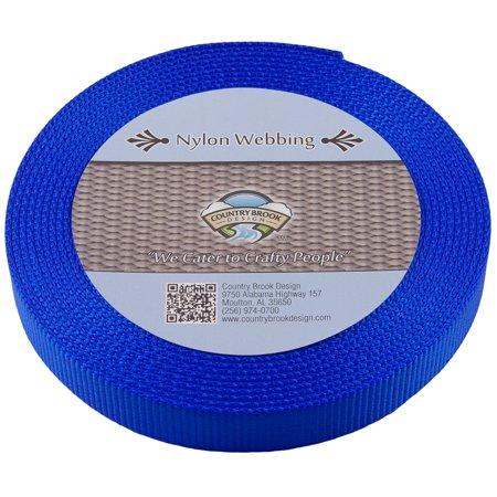 - Country Brook Design® 1 Inch Royal Blue Super Heavy Nylon Webbing