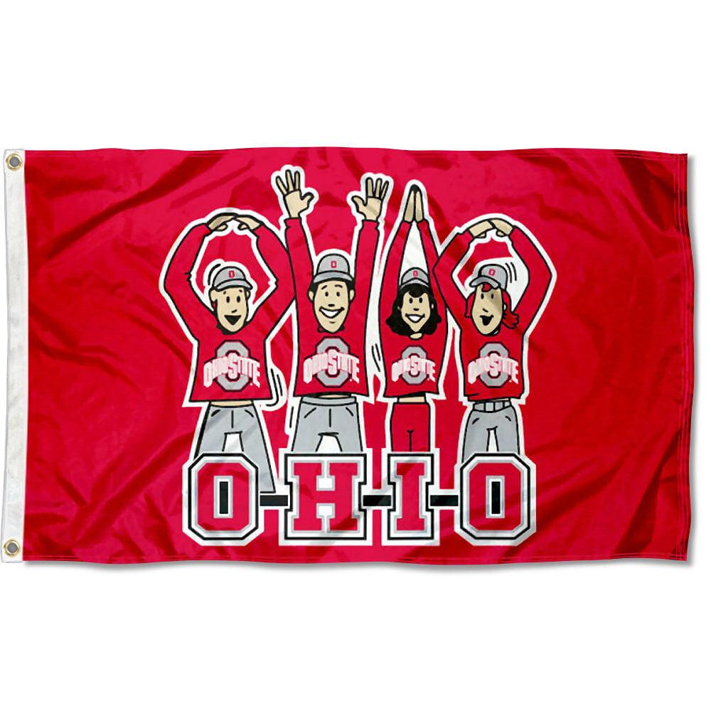 Ohio State Buckeyes OHIO Cheer 3' x 5' Pole Flag