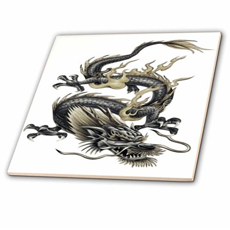3dRose Lucky Dragon - dragon, chinese dragon, year of the dragon, chinese new year, gift idea, fathers day - Glass Tile, 6-inch - Chinese New Year Decor Ideas