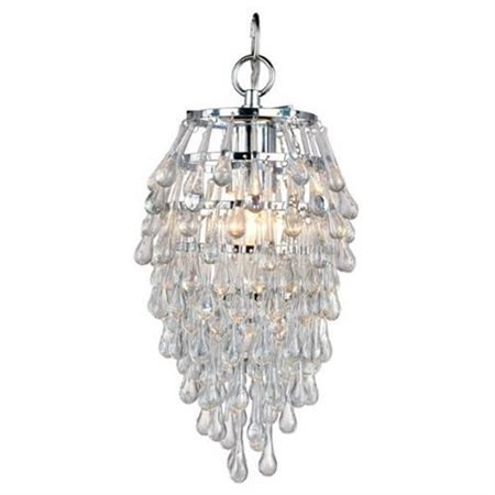 Brooksdale Mini Chandelier - AF Lighting Crystal Teardrop Elements Mini Chandelier - 13