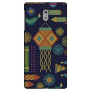 Nokia 3 Case, Premium Handcrafted Printed Designer Hard ShockProof Case Back Cover for Nokia 3 - Diwali Galore