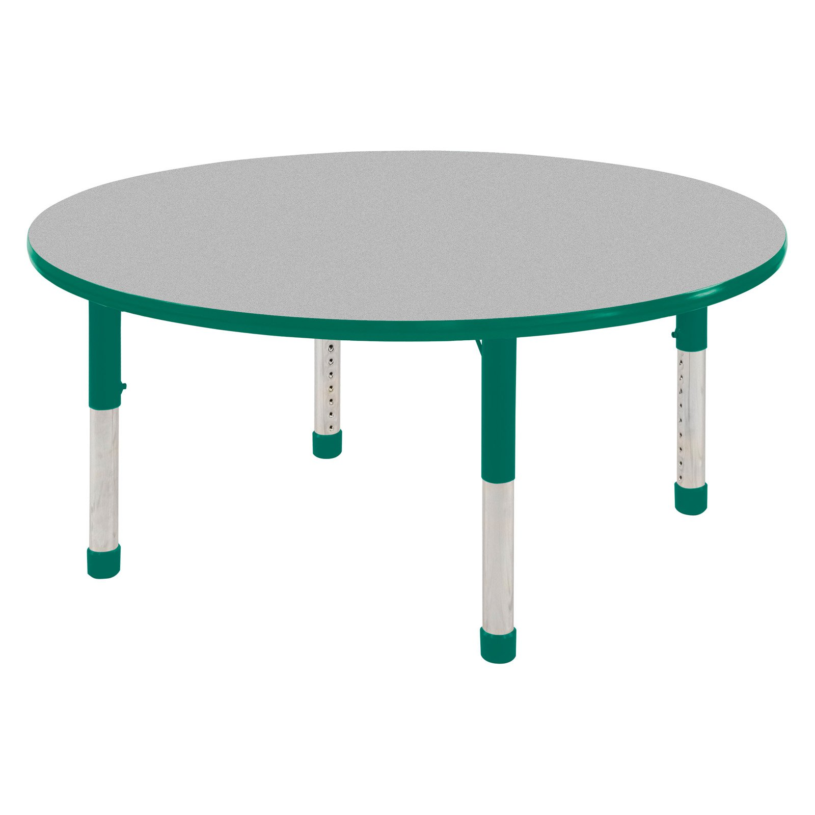 ECR4KIDS 48 in. Gray Top Round Adjustable Activity Table - Chunky